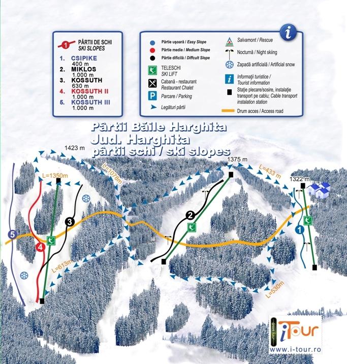 Harta partii schi Harghita Bai, Harghita