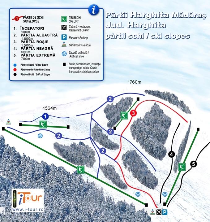 Harta partii schi Madaras, Harghita