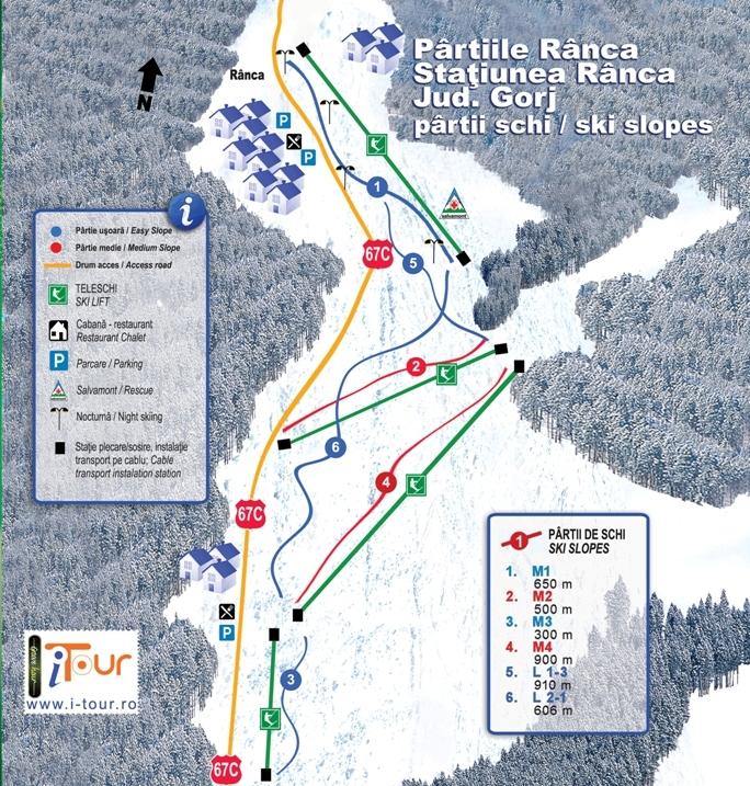 Harta partii schi Ranca Gorj