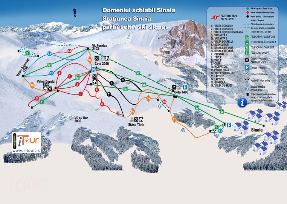 Harta partii schi Sinaia, Prahova