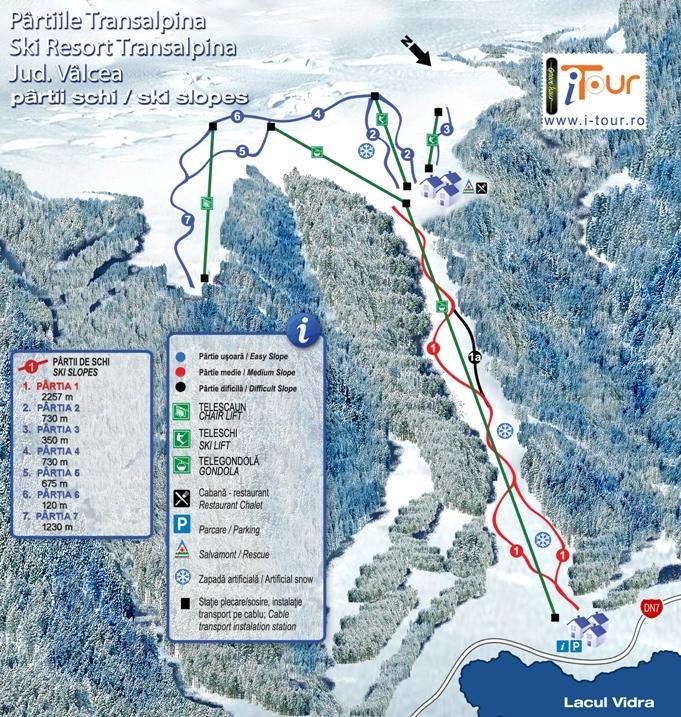 Harta partii schi Transalpina, Valcea